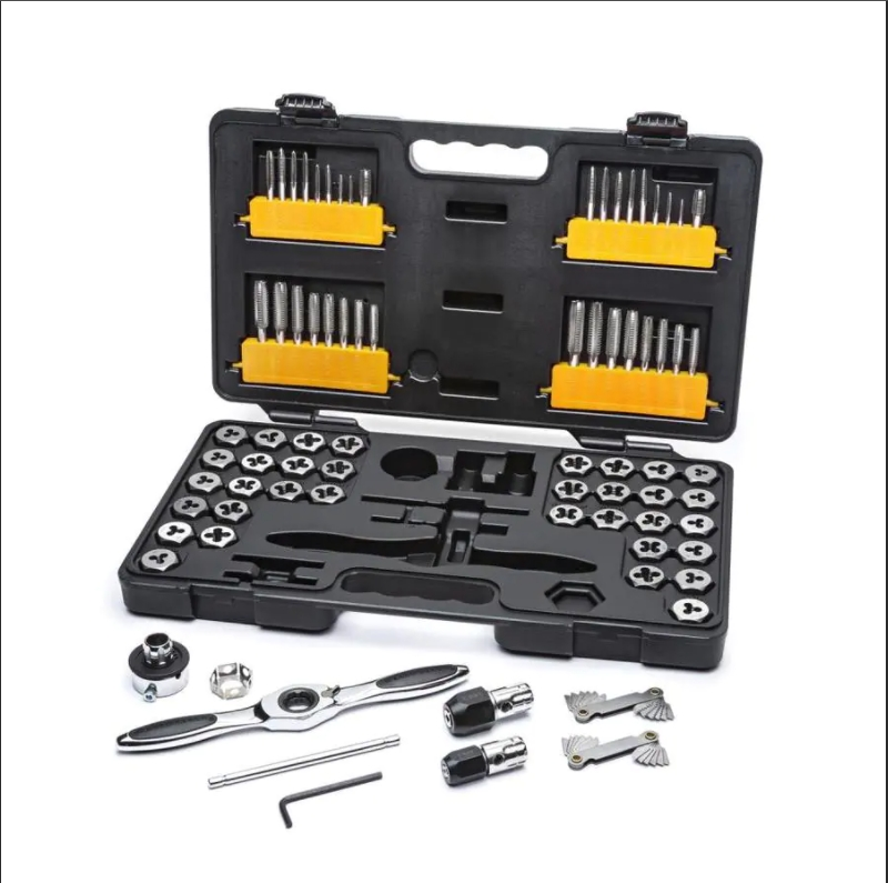 75 Piece Ratcheting Tap and Die Set